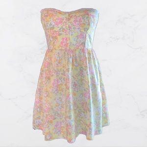 Kirra Strapless Floral Sundress Sz Small